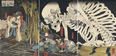 utagawa-kuniyoshi-soma-no-furufairi-ai-masakado-himegimi-takiyasha-yojutsu-o-motte-mikata-o-atsumuru-in-the-ruined